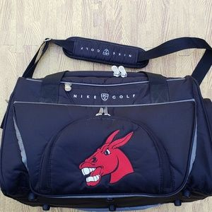 Central Missouri Mules Nike Golf Black Duffle Bag